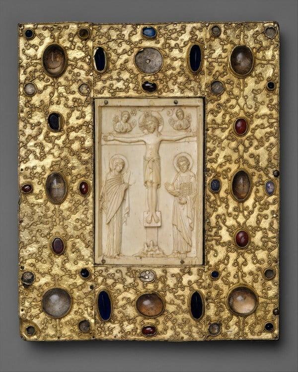Обложка византийской книги с иконой