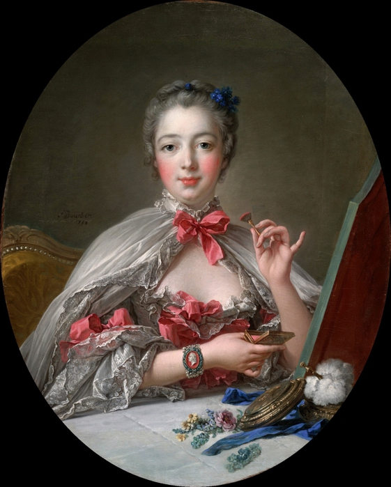 Фотографя как часть искусства-Маркиза де Помпадур, Буше-репродукция