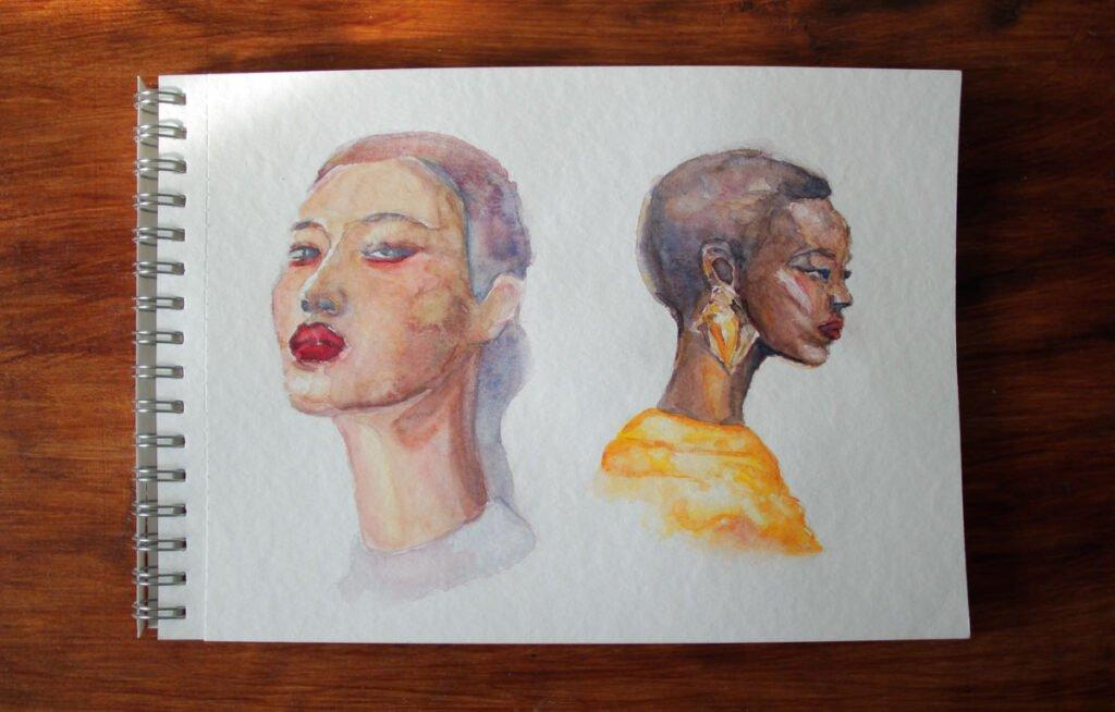 """Акварель """"Белые ночи"""" бумага торшон - портрет - иллюстрация - акварельный челлендж"""