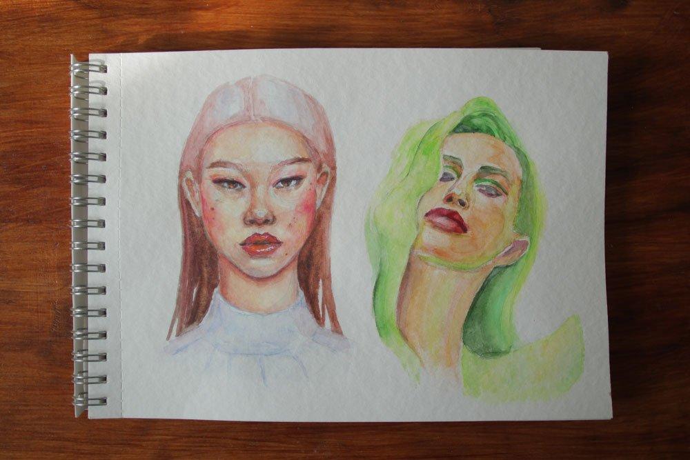 """Акварель """"Белые ночи"""" бумага торшон - портрет - иллюстрация"""