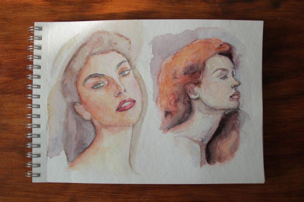 """Акварель """"Белые ночи"""" бумага торшон - портрет - иллюстрация - челлендж - акварельный челлендж"""
