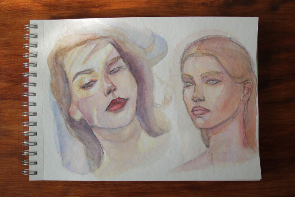 """Акварель """"Белые ночи"""" бумага торшон - портрет - иллюстрация - челлендж"""
