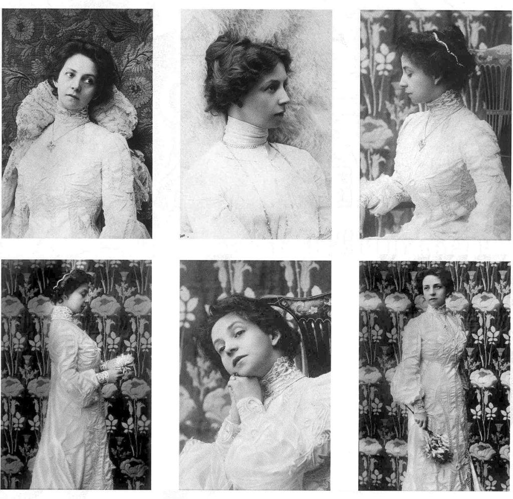 Работа ателье Мрозовской, актриса Вера Комиссаржевская - женщина фотограф в России - фотограф женщина в Российской Империи