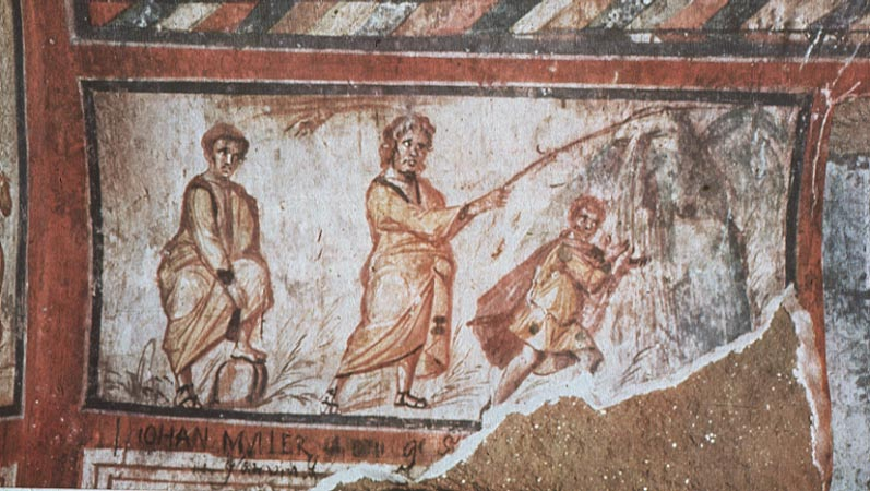 Римские катакомбы, живопись раннего средневековья 0к. 300-500 г.г.