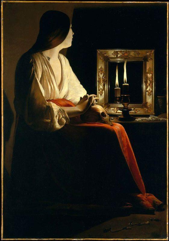 Мария Магдалина с двумя свечами